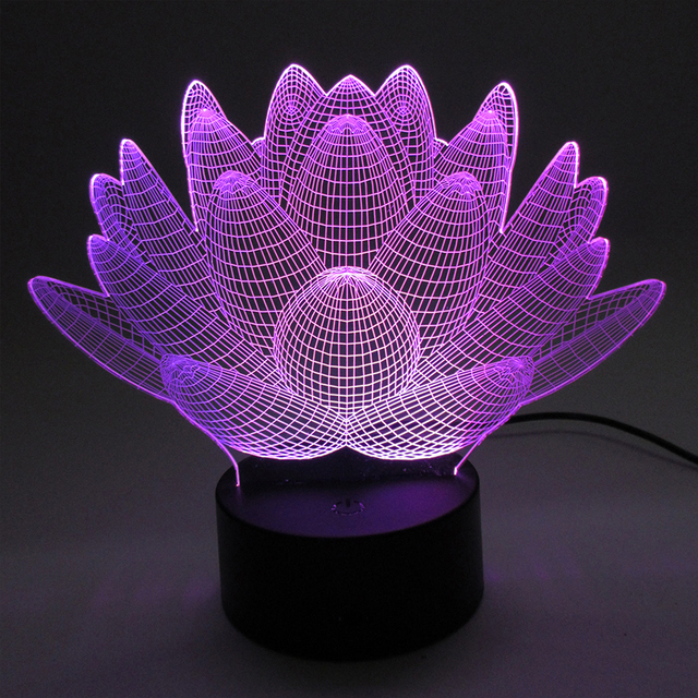 Aliexpress Com Buy 3d Laser Acrylic Night Lights Usb Led