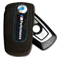 Leather Carbon Fiber Key Case Keychain Holder Cover Bag Leather ///M Emblem Key Case For Bmw F10 F30 F20 X3 X1 X5 X6 Key Case