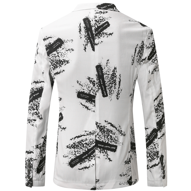 Plyesxale Mens Linen Blazer Jacket Slim Fit Summer Blazer For Men 2019 High Quality Casual Blazers Printed Terno Masculino Q438
