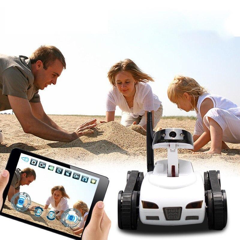 4-Way Mini caméra télécommande électrique voiture-citerne Transmission en temps réel Wifi vidéo avec caméra tête caméra télécommande réservoir