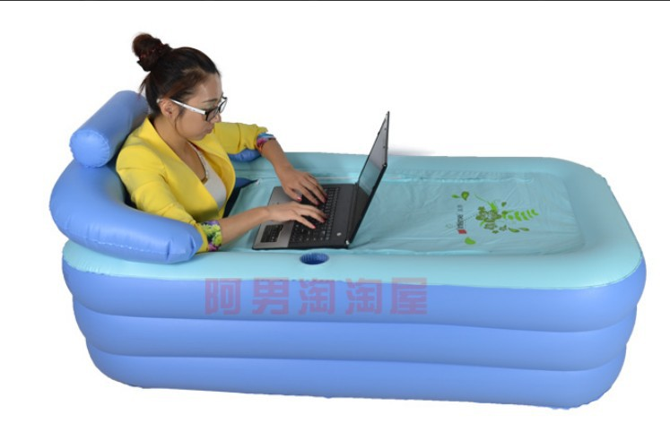 Wholesale&Retail Spa PVC folding Portable bathtub inflatable bath ...