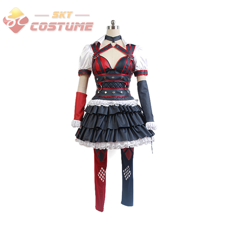 Batman Arkham Asylum Harley Quinn Halloween Carnival Cosplay Costumes
