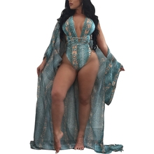 цена 2018 Women High Waist Swimsuit Beach Cover Ups Sexy Push Up Backless Femme Maillot De Bain Print Swimwear Bathing Two Piece Suit онлайн в 2017 году