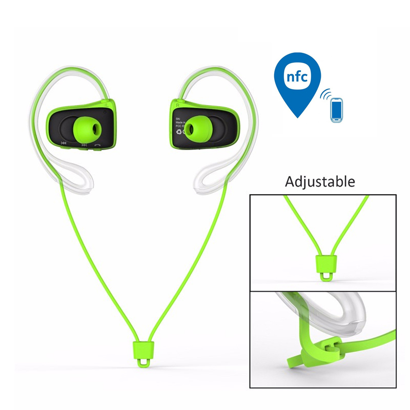 цена на Jabees BSport With NFC Waterproof Wireless Headphones Bluetooth Headset  Earphone fone de ouvido hands free For Mobile Phone