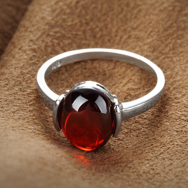 100% S925 Solid Thai Silver Stone Big Ring New Fine Jewelry Pure 925 Sterling Silver Rings for Women LR10