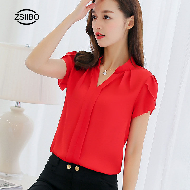 Vintage Chiffon   Blouse     Shirts   Women Stylish V-neck petal sleeve Work Clothing For OL Casual Breathable Female Top vetement femme