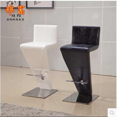 European Fashion Stainless Steel Bar Chair To Restore Ancient Ways Jewelry Chair Recreational Chair At The Front Desk Cheap Sales Bar Furniture Bar Chairs