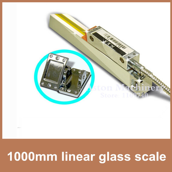 Free Shipping High Accuracy optical sensor 0.005mm / 0.0002 5V TTL 1000mm linear ruler for CNC milling machine boring lathe free shipping high precision easson gs11 linear wire encoder 850mm 1micron optical linear scale for milling machine cnc