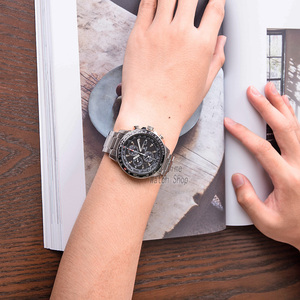 Image 5 - Seiko izle erkekler en lüks marka su geçirmez spor kol saati güneş saati Chronograph kuvars erkek saati Relogio Masculino SSC009