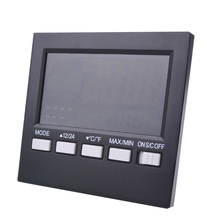 On sale Indoor and outdoor temperature and humidity, liquid crystal display with backlight temperature and humidity, free shipping