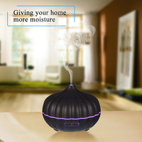 Pumpkin Ultrasonic Aromatherapy Humidifier With 7Colors Rotating LED Light PP ABS Ultrasonic Humidifier Essential Oil Diffuser