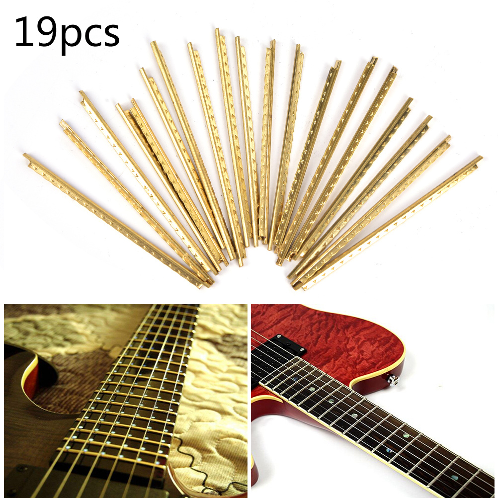 19 pcs brass classical guitar frets acoustic guitar fret wire set width 2 2 mm in guitar parts. Black Bedroom Furniture Sets. Home Design Ideas