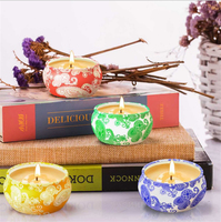 Flower Scented Candle Handmade Smoke Free Plant Aromatherapy Essential Oil Soy Wax Candles for Wedding birthday Decoration