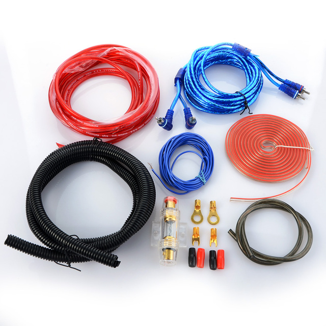 Car Audio Wire RCA Amplifier Subwoofer Cable Speaker Wire Kit-in ...