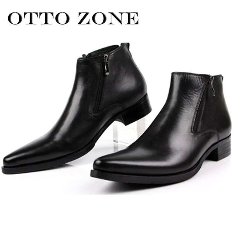 Men's Shoes Otto New Three Color Spring/autum Mens Chelsea Shoes Boots Handmade Genuine Leather Ankle Zipper Boots Oxford Casual Shoes Supplement The Vital Energy And Nourish Yin Chelsea Boots