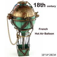 18th Century French Hot Air Balloon Metal Simulation Model Diecast Handmade Fire Ballon Iron Crafts Collection