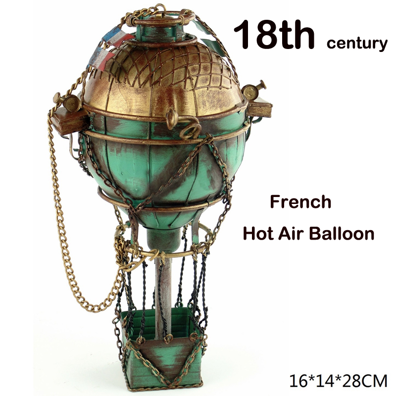 18th century French Hot Air Balloon Metal Simulation Model Diecast Handmade fire ballon Iron crafts collection gift toy kids retro tinplate metal motocross models collection classic handmade arts and crafts dirt bike model