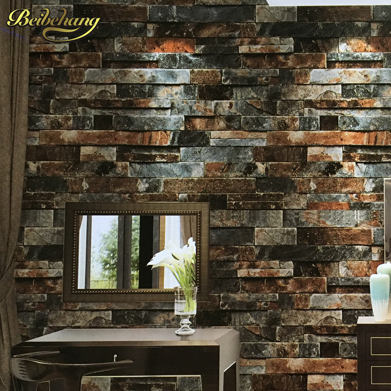 beibehang PVC wall paper brick wall wallpaper wall wallpaper roll 3D wallcovering papel de parede Wall paper Roll papel de pared beibehang european metallic floral damask wallpaper design modern vintage wall paper textured wallpaper roll papel de parede 3d
