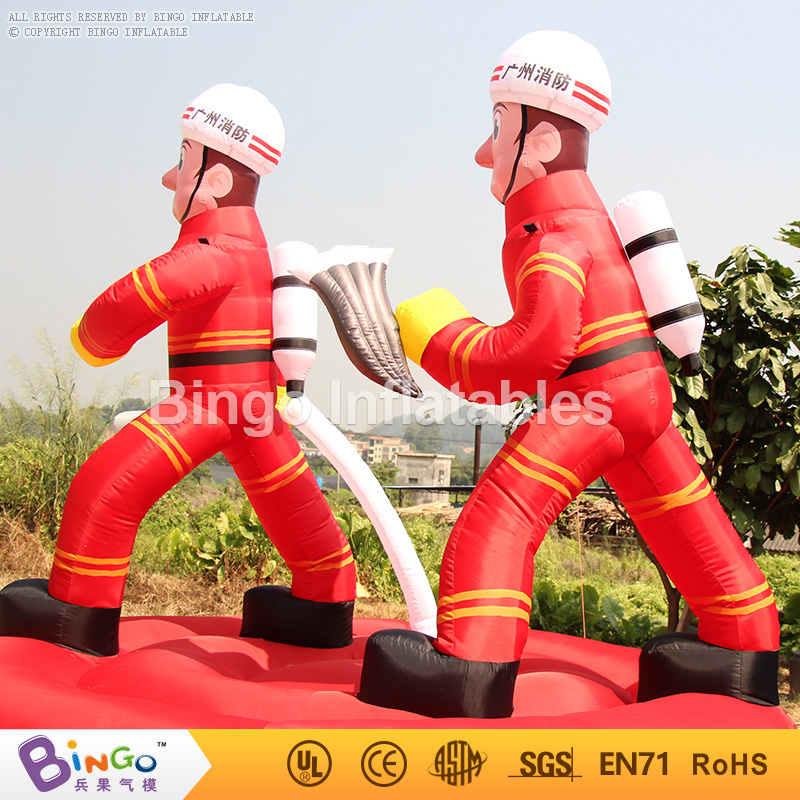 Free Express Inflatable Fireman Cartoon Inflatable Fireman Replica for firefighting theme advertising toy inflatable cartoon customized advertising giant christmas inflatable santa claus for christmas outdoor decoration