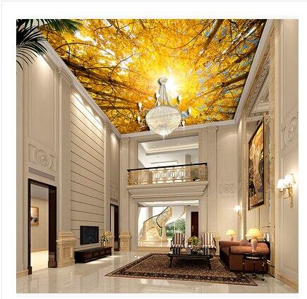 De woonkamer en slaapkamer plafond zenith behang plafond ...