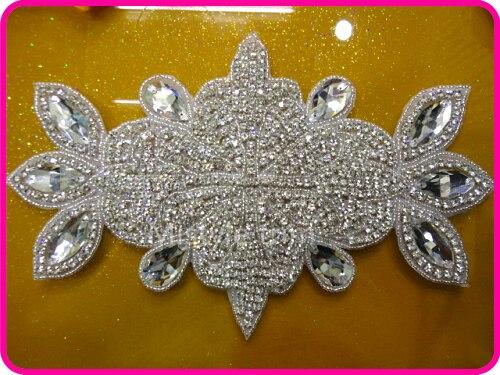 Lesklý svatební křídlo drahokamu šít na nášivka pro svatební šaty