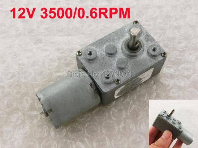 JSX5300-370 DC 12V 3500 r//min 0.6RPM High Torque Speed Reducer Worm Gear Motor