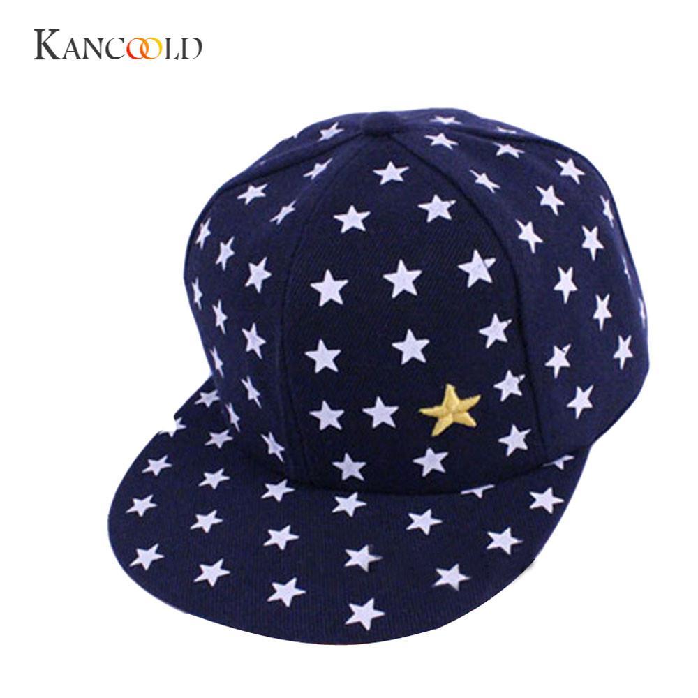 KANCOOLD bone   cap   Casual hat fits boys and girls popular New Kids Baby Children Star Pattern Hip Hop   Baseball     Cap   PJANO0