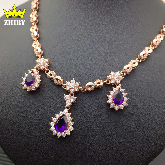 Natural Amethyst Gem Necklace Woman Semi Precious Stone Pendant Solid 925 Sterling Silver Lady's Fine Jewelry цена и фото