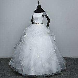 Image 4 - Real Photo White Fashion Classic Vestido De Noiva 2020 New Hot Sale Korean style Elegant Princess Sweetheart Lace Up with Sashe
