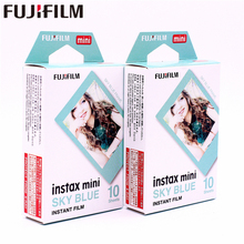 Original Fuji Fujifilm 20 sheets Instax Mini Sky Blue Instant Film photo paper for  mini 8 7s 25 50s 90 9 Camera