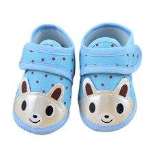 TELOTUNY/Обувь для новорожденных; нескользящая обувь с принтом животных; детская обувь с мягкой подошвой; нескользящая хлопковая обувь для малышей; Z0828