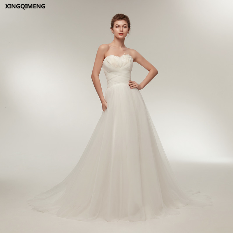 Wedding Gown With Feathers: In Stock Sexy Beach Ivory Wedding Dress Feathers Cheap