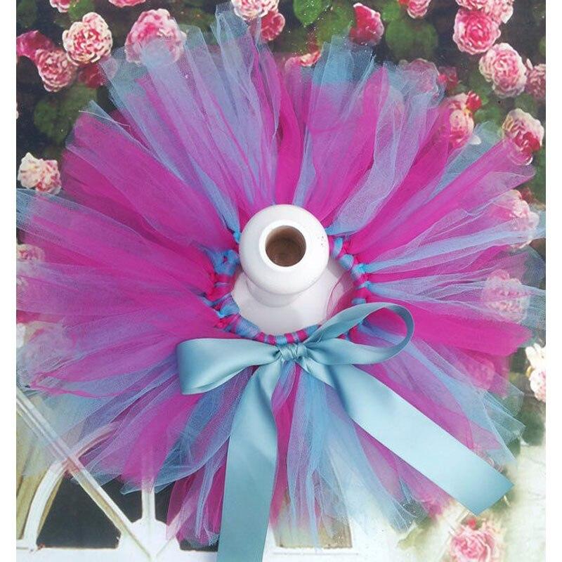 Лидер продаж; фатиновая юбка-пачка для маленьких девочек и повязка на голову с цветами; Комплект для новорожденных; реквизит для фотосессии; подарок на день рождения; 10 цветов; ZT001 - Цвет: only skirt multi