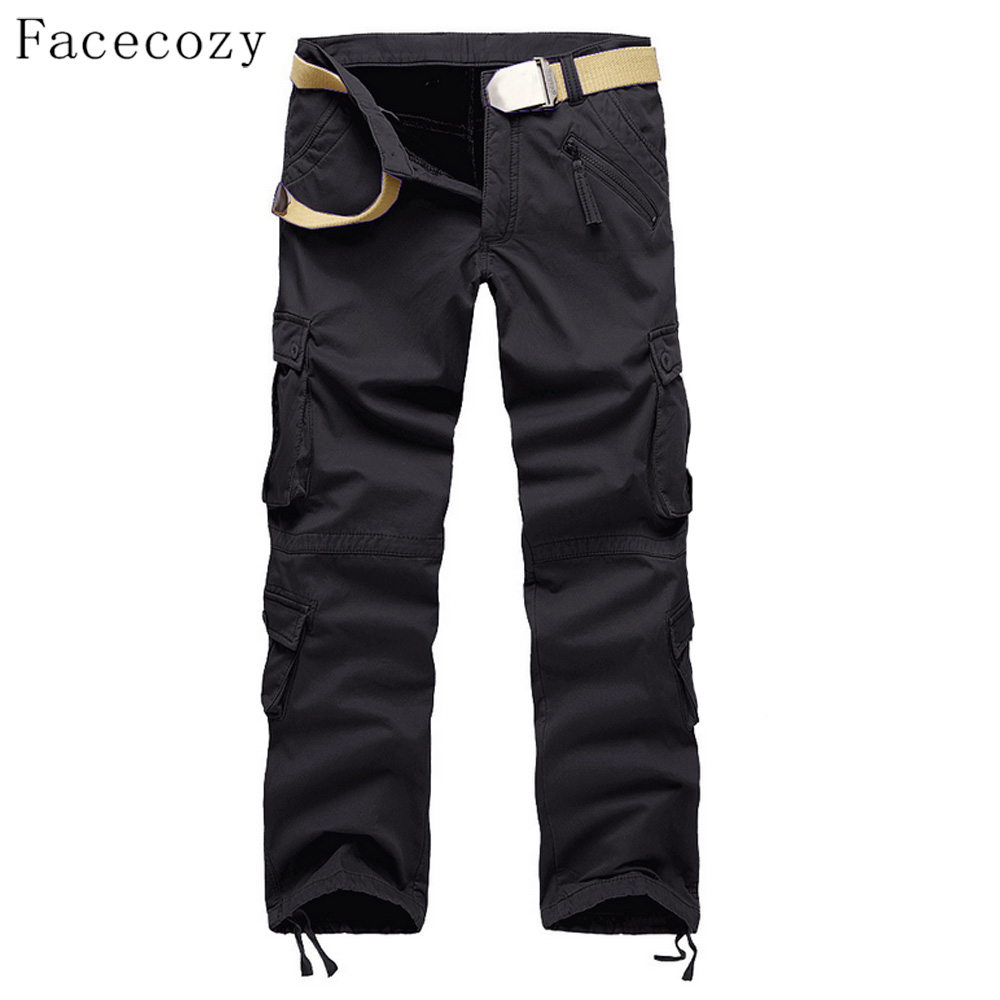 Facecozy Men Autumn Outdoor Sports Softshell Pant Male Winter Windproof Inner Fleeces Thick Trouser Plus Size mrpomelo children indoor indian teepee play house solid blue garden game playhouse 100