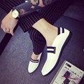 2016 verano nuevos hombres Coreanos zapatos perezosos Guisantes zapatos de cuero ocasionales de los hombres blancos de los hombres de cuero genuino holgazanes pisos zapatos