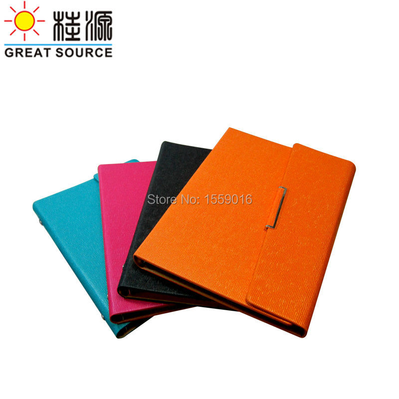 A5 Notepad Rings Binder Notebook 2020 Calendar Weekly Planner Color Leather Agenda Notepad in Notebooks from Office School Supplies