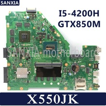 KEFU X550JD Laptop motherboard for ASUS X550JK X550JX FX50J ZX50J A550J X550J X550 Test original mainboard I5-4200H GTX850M