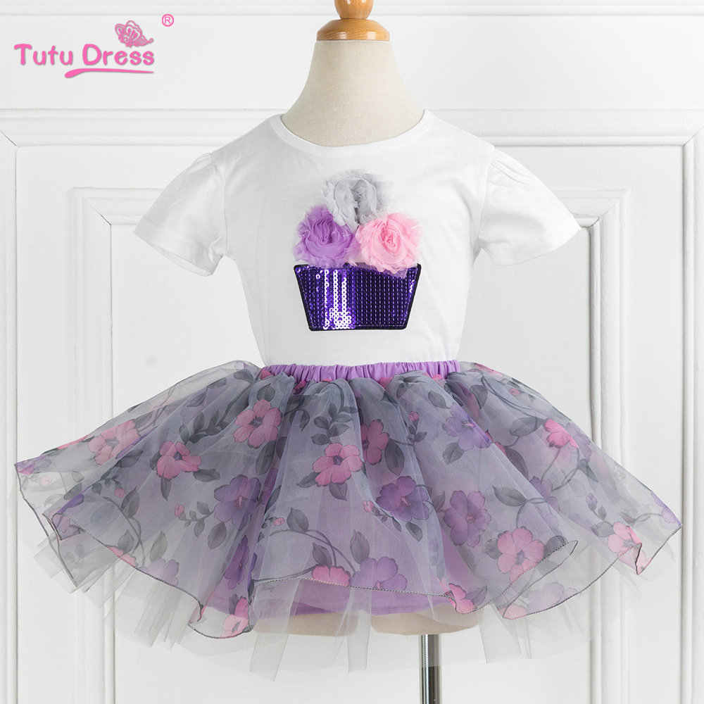Baby Girl Floral Clothes Set Newborn Toddler Cotton Suit Kids Baby Girl Clothes Outfits Summer Tutu Skirt Clothing Set