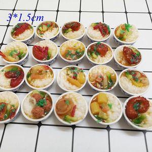 Image 2 - Miniaturas for1/6 bonecas para cozinha, miniaturas de macarrão, arroz chinês, sobremesa, escala 1:6, cozinha brinquedos, brinquedos
