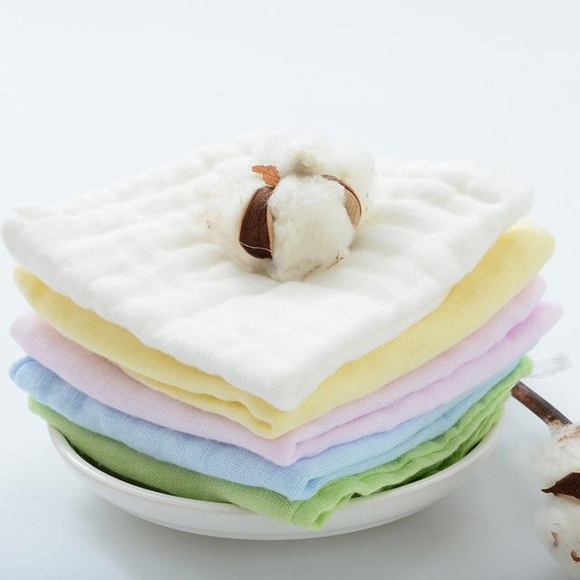 5pcs/lot 30*30cm 100% gauze cotton baby handkerchief square towel muslin cotton infant face towel wipe cloth Appease Towel