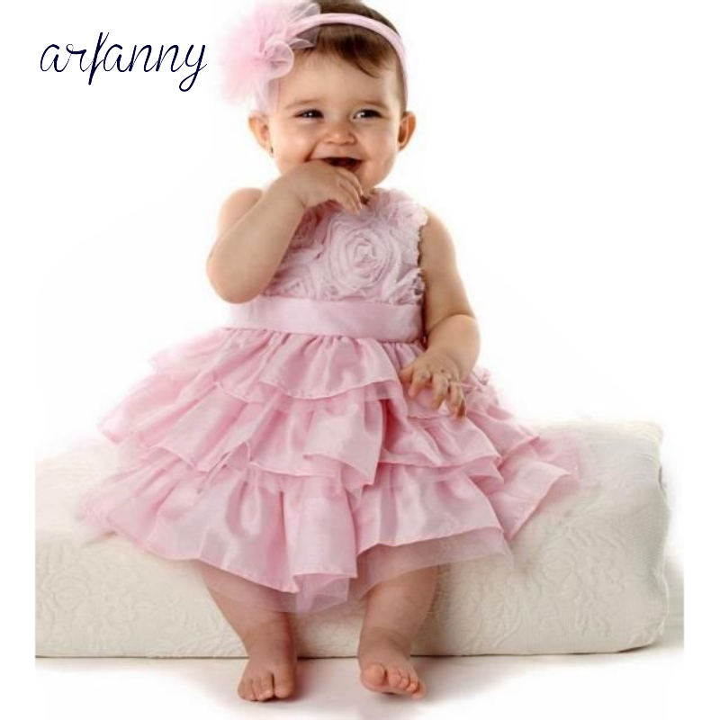 <font><b>Baby</b></font> <font><b>Girl</b></font> <font><b>Dress</b></font> <font><b>3</b></font> 6 9 12 18M 1 <font><b>Years</b></font> Infants <font><b>Girls</b></font> Birthday <font><b>Dresses</b></font> Vestido birthday party princess+Head cake flower <font><b>dress</b></font> image