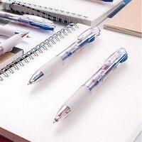 שני באחד עט כדורי נשלף דיו אדום והכחול פלסטיק עטי ג 'ל עט מכתבים 24 יח'\אריזה סוג Push