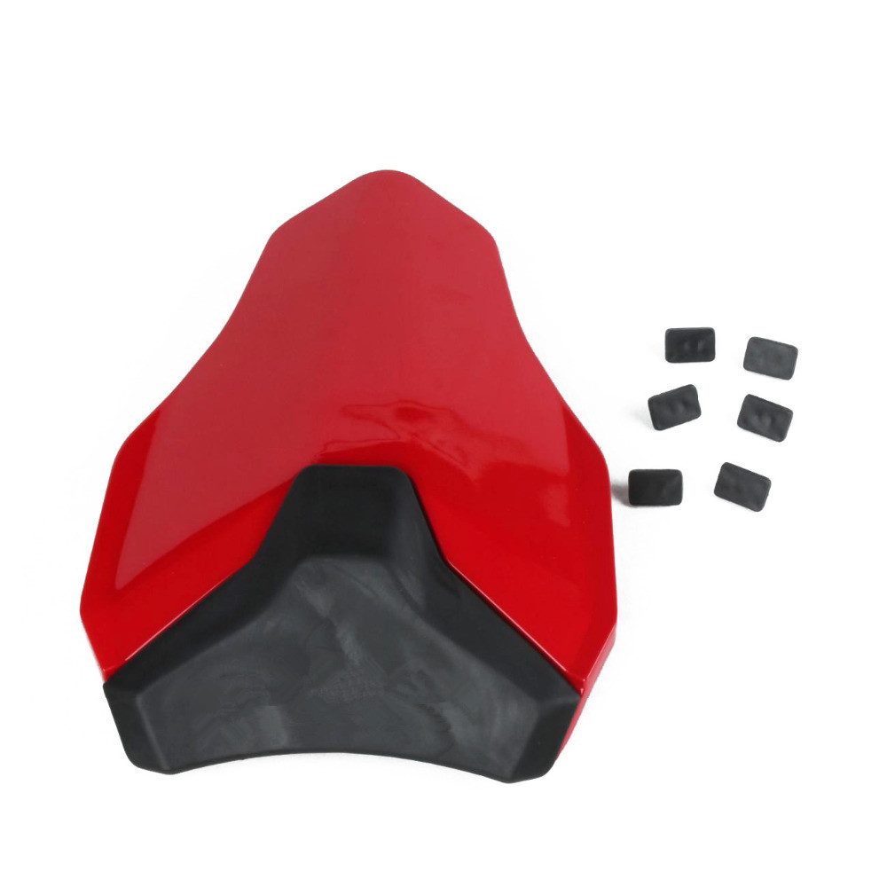 For DUCATI 848 1098 1198 All Year Red Motorcycle Rear Passenger Seat Cowl Fairing Protection Cover for ktm 390 duke motorcycle leather pillon passenger rear seat black color