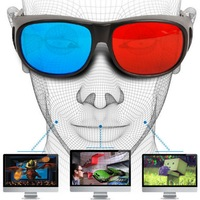 Universal Type 3D Glasses TV Movie Dimensional Anaglyph Video Frame 3D Vision Glasses DVD Game Glass Red And Blue Color jul 6