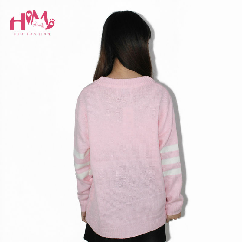 Baby Blue Baby Pink Knitted Sweater Winter Women Shirt Hot Korea Japanese Fashion  2