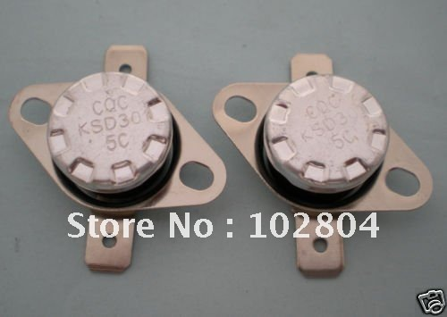 Temperature Controlled Switch Thermostat 5C N.O. KSD301 5 Pcs Per Lot