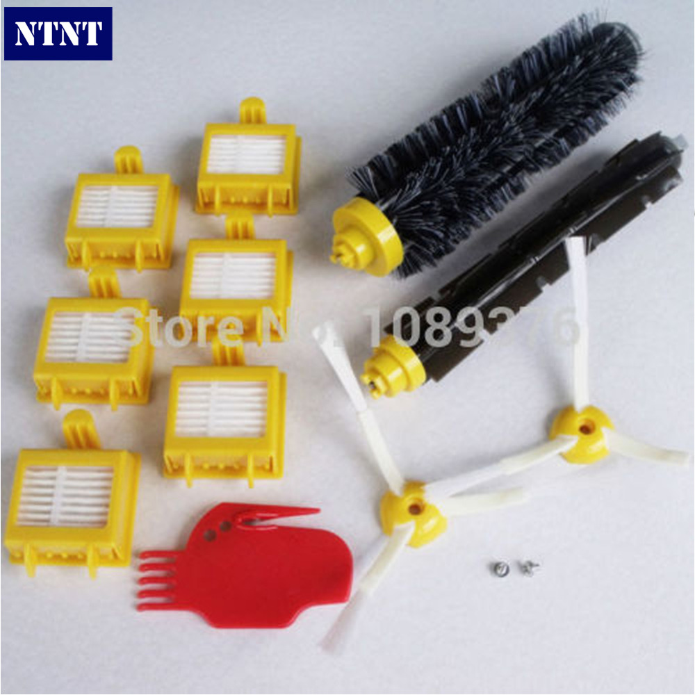 NTNT Free Post New 2 Brush 3 armed Aero Vac +6 Filter kit for iRobot Roomba 700 Series 760 770 780