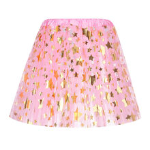 Streetwear Summer Women Skirt Womens Fashion Star Elastic 3 Layered Short Skirt Adult Tutu Dancing Skirt faldas mujer moda 2019(China)