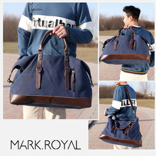 MARKROYAL Canvas Leather Men Travel Bags