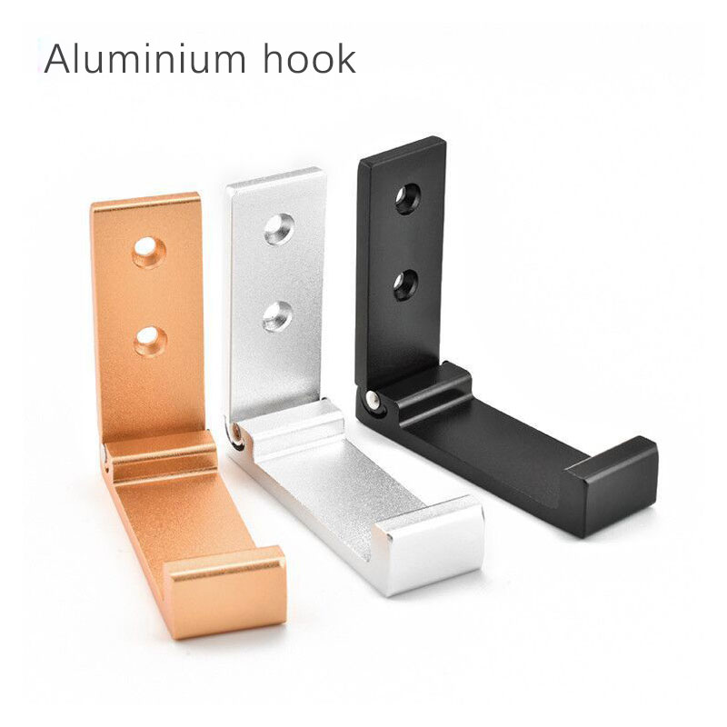 Aluminium hook Door Bathroom Kitchen Bar Wall Decor Hanger for Hanging Clothing Key Bag and Towel in Robe Hooks from Home Improvement